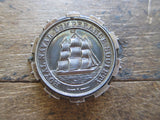 Antique Royal Navy Society Pinback Medal - Yesteryear Essentials  - 2