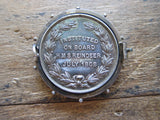 Antique Royal Navy Society Pinback Medal - Yesteryear Essentials  - 10