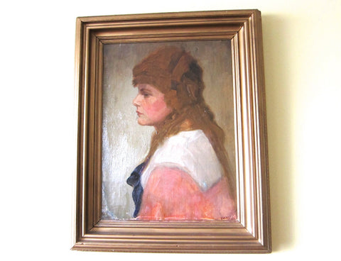 Antique Oil on Canvas Portrait Painting by William Jordan (1844 - 1940) - Yesteryear Essentials  - 1