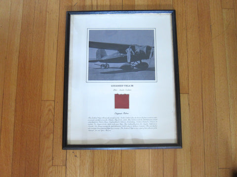 Aviation Memorabilia Fabric from Amelia Earhart's Lockheed Vega 5B - Yesteryear Essentials  - 1