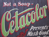 Vintage Advertising Poster for Cetacolor Laundry Soap, 3' by 2' - Yesteryear Essentials  - 11