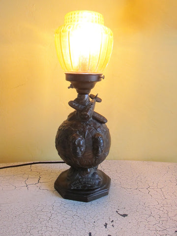 Collectible Will Rogers & Wiley Post Aviation Decor Collectible Table Lamp Sculpture - Yesteryear Essentials  - 1