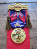 Antique Loyal Orange Lodge Red & Black Ribbon & Badge - Yesteryear Essentials  - 10