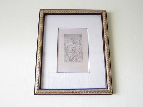 "Vintage Felicien Rop Erotic Art Etching ""Parnasse Satirique"" - Yesteryear Essentials  - 1"