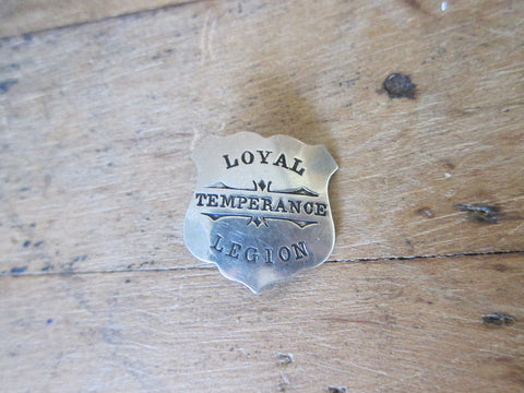 Antique Loyal Temperance Movement Pinback Badge by John Robbins mfg co - Yesteryear Essentials  - 1