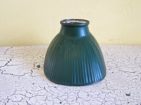 1920's Green Glass Lamp Shade - No 11 Hood junior - Yesteryear Essentials  - 1