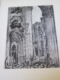 First World War French Ruins of War Art Prints Book - Yesteryear Essentials  - 7