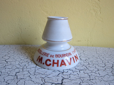 French Ceramic Match Holder & Matchstrike for M Chavin Vitalis by Justin Giraud - Yesteryear Essentials  - 1