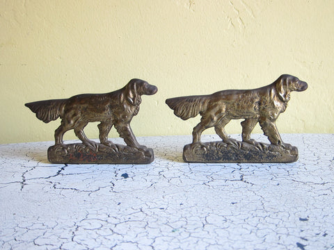 1930s Pair of Judd Setter Bookends - Yesteryear Essentials  - 1