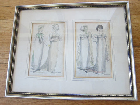 19th C Antique Prints of 1800 Fashion  by Vernor Hood & Sharp Poultry, Full Dress - Yesteryear Essentials  - 1