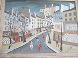 Whimsical Art Oil Painting of French Village Scene by Charles de Montfort (1901-?) - Yesteryear Essentials  - 11