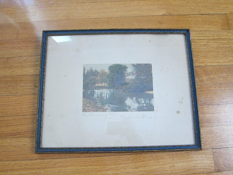 Victorian Photo Art by Wallace Nutting entitled The Swimming Pool - Yesteryear Essentials  - 1