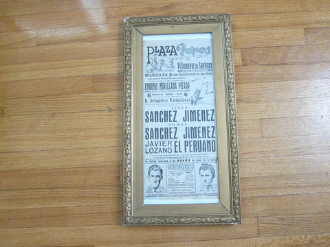 Vintage 1960s Spanish Bullfighting Poster - Yesteryear Essentials  - 1