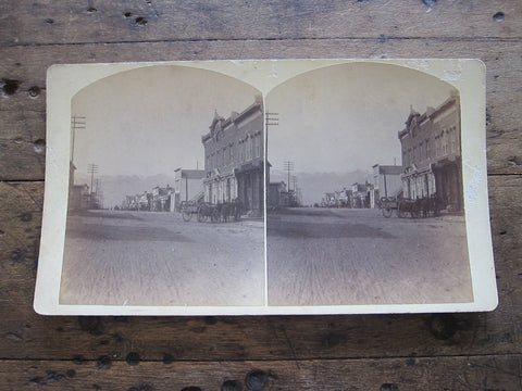 Charles Emery 1880 Stereoscope Card of the Post Office, Main St. Silver Cliff, Colorado - Yesteryear Essentials  - 1