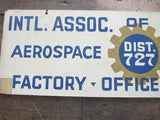 Vintage Aviation Machinists Union Aerospace Workers Sign - Yesteryear Essentials  - 5