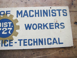 Vintage Aviation Machinists Union Aerospace Workers Sign - Yesteryear Essentials  - 2