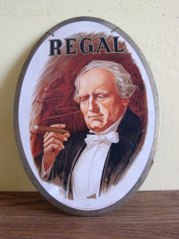 1920's Tobacciana Regal Cigar Advertising Sign - Yesteryear Essentials  - 1