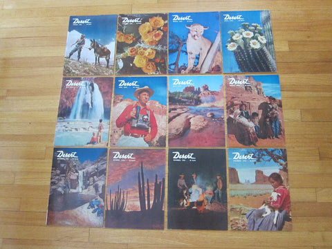 Vintage 1950's Desert Design Magazines Complete Year 1956 - Yesteryear Essentials  - 1