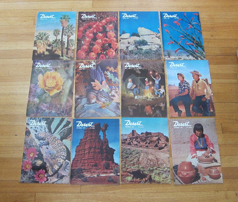 Vintage 1950's Desert Design Magazines Complete Year 1957 - Yesteryear Essentials  - 1