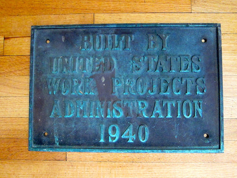 1940 Heavy Bronze Plaque for the Works Projects Administration - Yesteryear Essentials  - 1