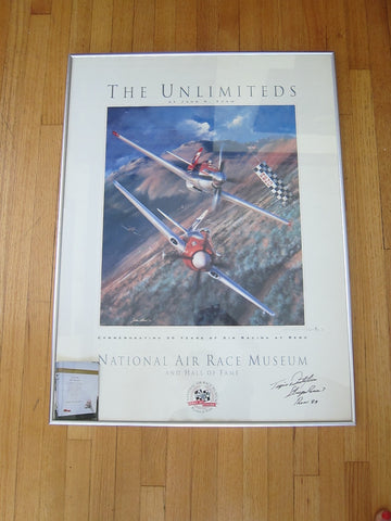 "Aviation Poster ""The Unlimiteds"" Signed by artist John D Shaw - Yesteryear Essentials  - 1"