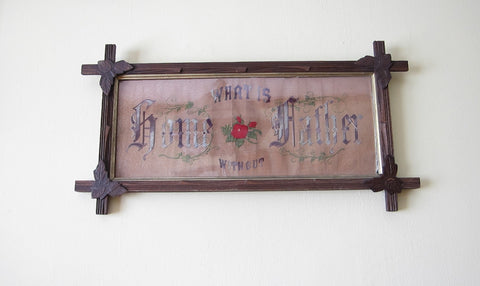 Victorian Framed Fathers Needlepoint Picture - Yesteryear Essentials  - 1