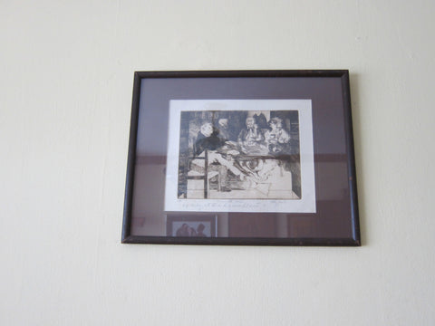 "Framed Artist Proof Lithograph  ""Dinner with Martha"" - Yesteryear Essentials  - 1"