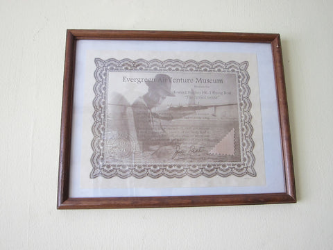 Howard Hughes Hk 1 Flying Boat Spruce Goose Framed Fabric & Cert - Yesteryear Essentials  - 1