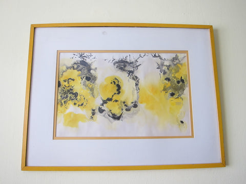 Abstract Watercolor Painting by Marge Gray (1970's) - Yesteryear Essentials  - 1