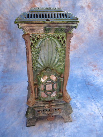 Antique French Enamel Wood Burning Stove by Deville Cie - Yesteryear Essentials  - 1