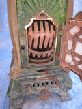 Antique French Enamel Wood Burning Stove by Deville Cie - Yesteryear Essentials  - 11