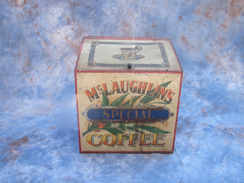 Antique No.99 McLaughlin Tin Coffee Dispenser - Yesteryear Essentials  - 1