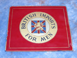 Vintage Advertising Canvas Glass Sign British Imports Rampant Lion - Yesteryear Essentials  - 2