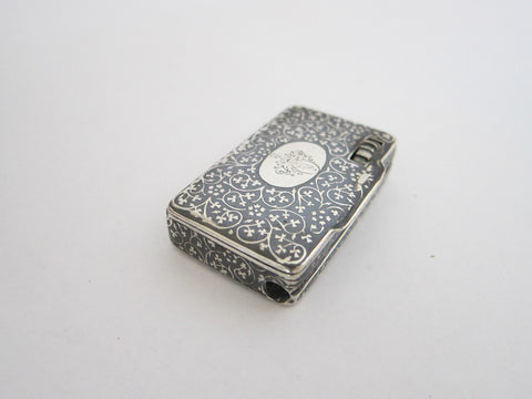 Victorian Sterling Silver Match Holder Vesta - Yesteryear Essentials  - 1
