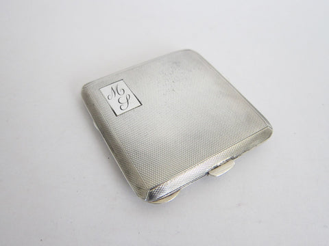 1940s Sterling Silver British Compact Mirror - Yesteryear Essentials