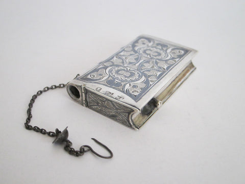 Antique Sterling Silver Russian Match Holder - Yesteryear Essentials  - 1