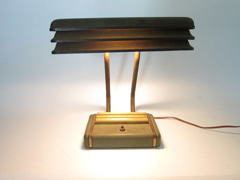 Art Deco Louvered Office Desk Lamp - Yesteryear Essentials  - 1