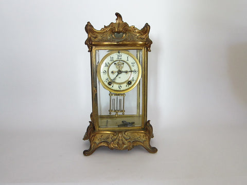 Art Nouveau Jenning Brothers Mantel Clock - Yesteryear Essentials  - 1