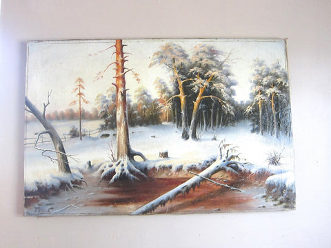 Oil on CanvasTree Painting by Russian Artist Rumyantzeff - Yesteryear Essentials  - 1