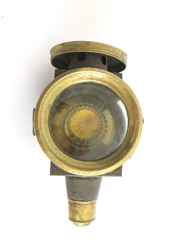 Victorian Brass Carriage Light Oil Lamp - Yesteryear Essentials  - 1
