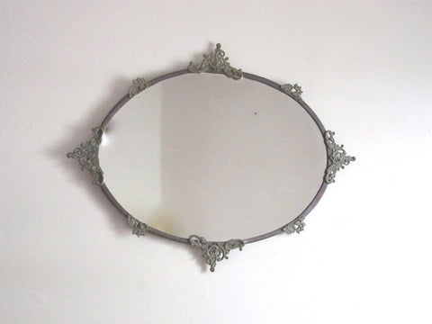Vintage Oval Decorative Wall Mirror - Yesteryear Essentials  - 1