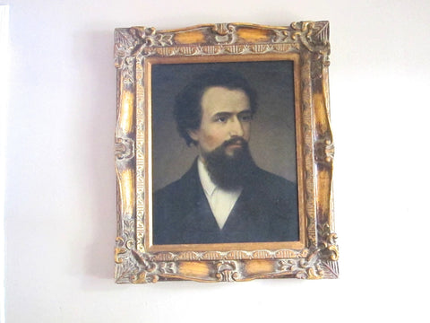 Vintage Male Portrait Painting - Oil on Canvas - Yesteryear Essentials