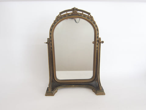 Antique Wooden Framed Vanity Mirror - Yesteryear Essentials  - 1