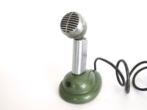 Vintage Green Shure Microphones - S36 - Yesteryear Essentials  - 1