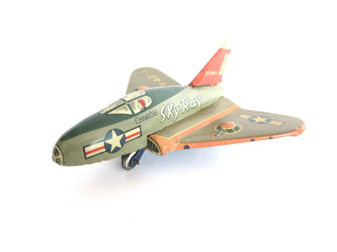 1950s Cragstan Sky Ray Tin Toy Douglas Plane - Yesteryear Essentials  - 1