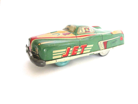 1950s Cragstan King Jet Tin Toy Car - Yesteryear Essentials  - 1