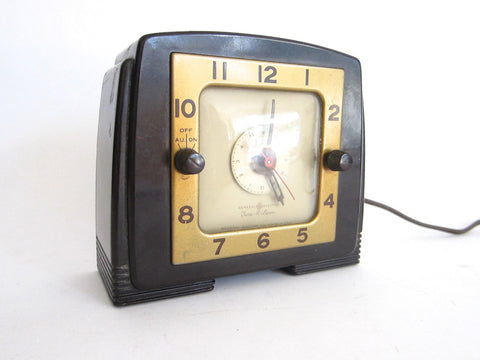Art Deco Bakelite Tune A Larm Clock by General Electric - Yesteryear Essentials  - 1