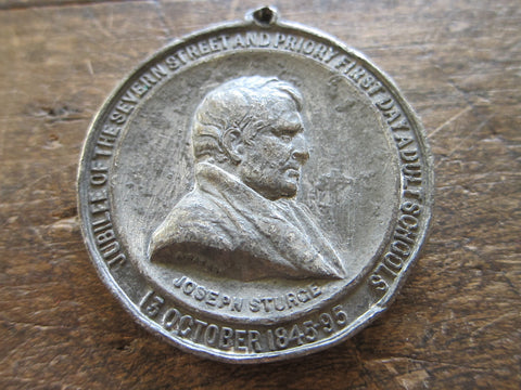 Antique Religious Joseph Sturge Jubilee Medal - Yesteryear Essentials  - 1