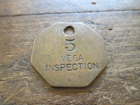 Lockheed Brass Aviation Vega Work Token - Yesteryear Essentials  - 1