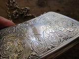 Antique Sterling Silver Engraved Purse - Yesteryear Essentials  - 10
